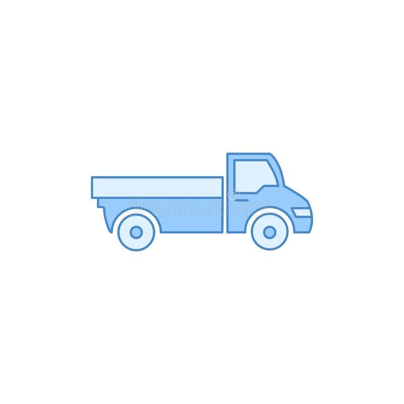 Icona del profilo riempita camion Elemento dell'icona di trasporto per i apps mobili di web e di concetto La linea sottile icona  illustrazione vettoriale