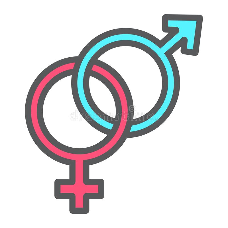 Icona del profilo riempita eterosessuale, giorno di biglietti di S. Valentino illustrazione di stock