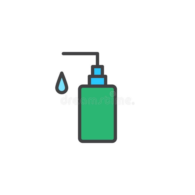 Icona del profilo riempita sapone della mano illustrazione vettoriale