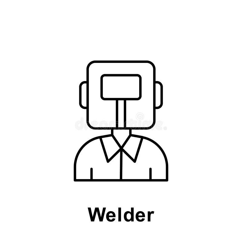 Icona del profilo del saldatore Elemento dell'icona dell'illustrazione di festa del lavoro I segni ed i simboli possono essere us illustrazione di stock