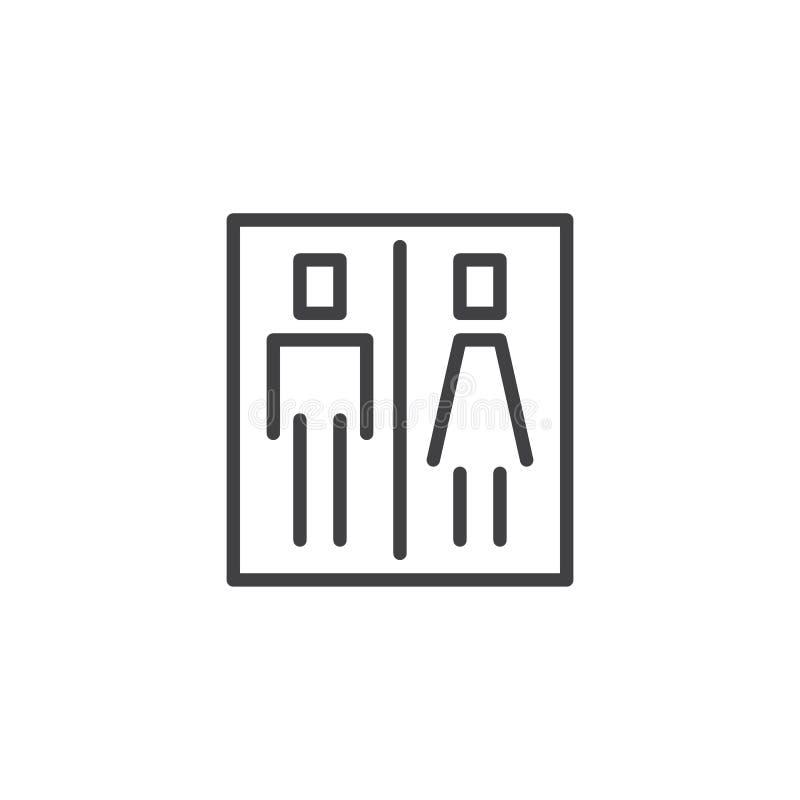 Icona del profilo del segno della toilette royalty illustrazione gratis