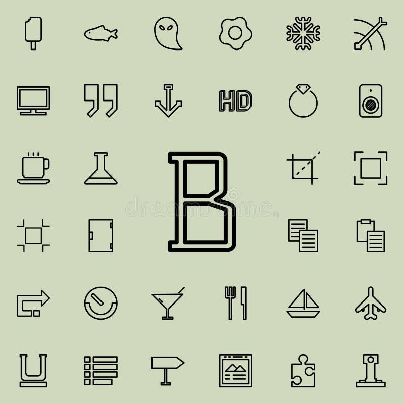 icona del profilo del segno del testo in grassetto Insieme dettagliato della linea minimalistic icone Progettazione grafica premi royalty illustrazione gratis