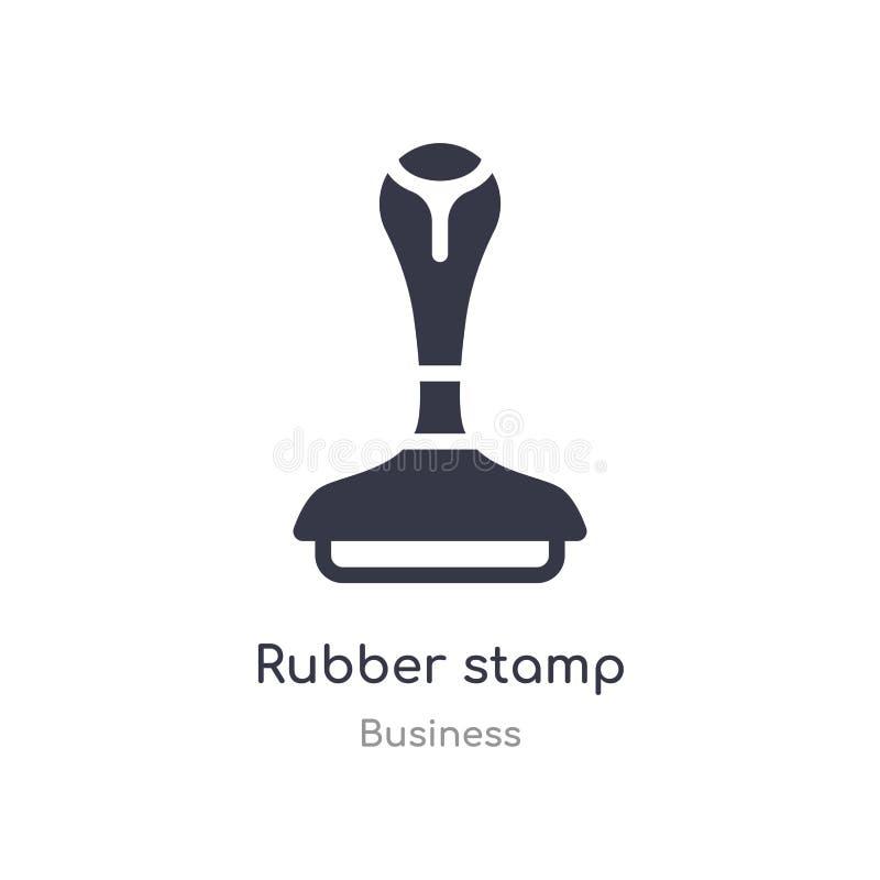 Icona del profilo del timbro di gomma linea isolata illustrazione di vettore dalla raccolta di affari icona sottile editabile del royalty illustrazione gratis