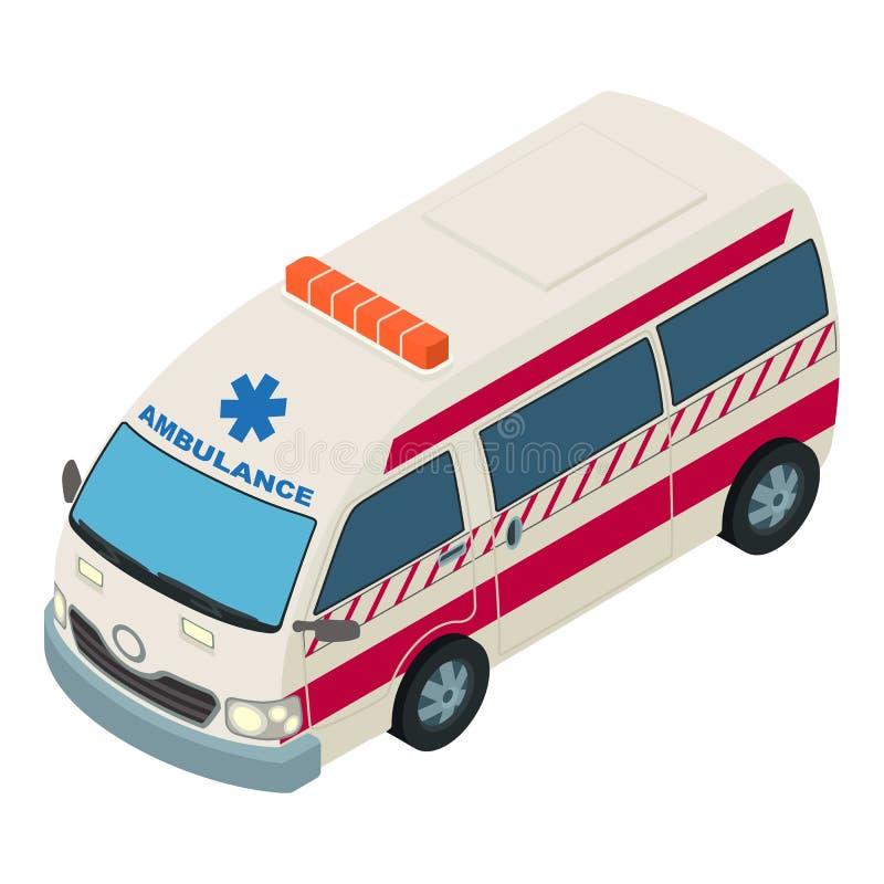 Icona del pronto soccorso, stile isometrico illustrazione di stock