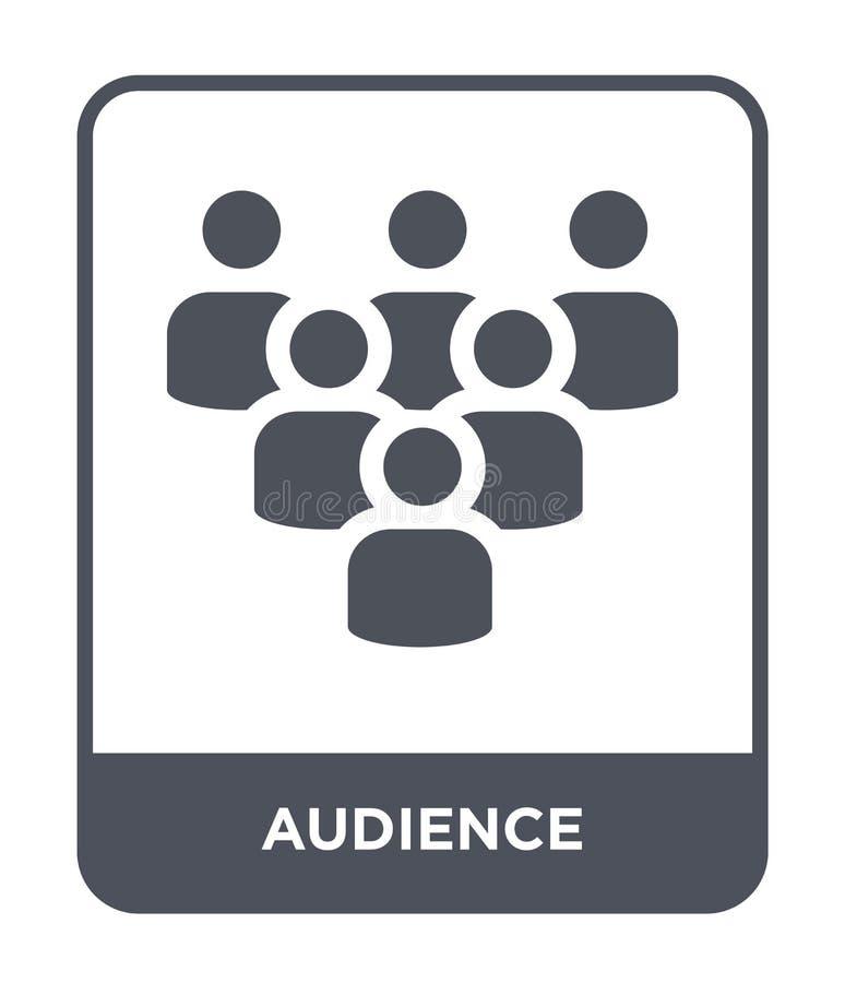 icona del pubblico nello stile d'avanguardia di progettazione icona del pubblico isolata su fondo bianco piano semplice e moderno royalty illustrazione gratis