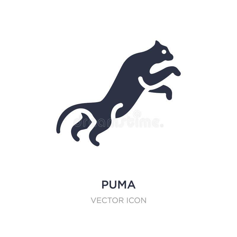 icona del puma su fondo bianco Illustrazione semplice dell'elemento dal concetto degli animali royalty illustrazione gratis