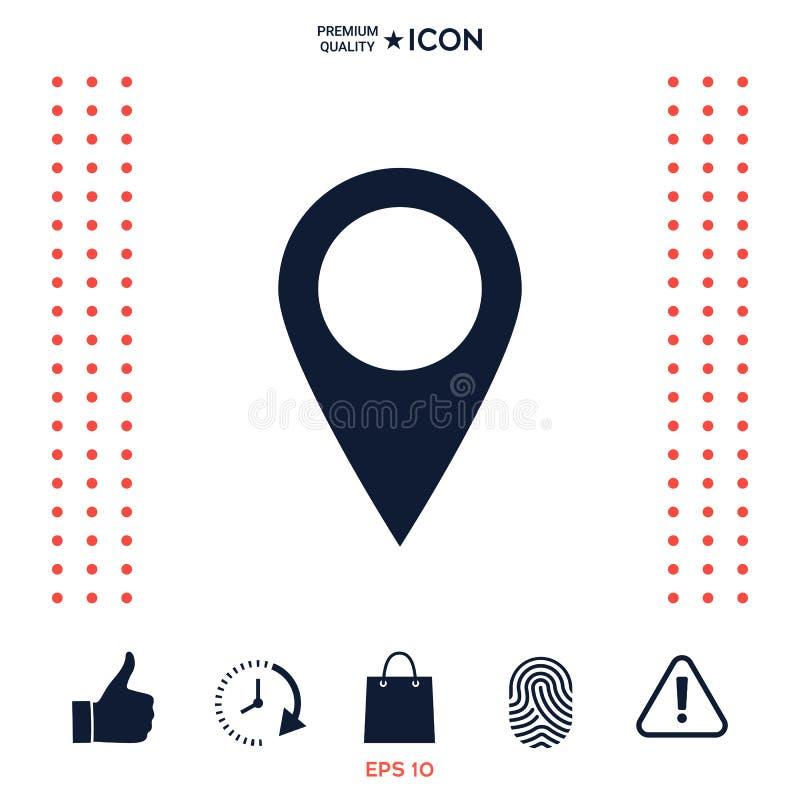 Download Icona Del Puntatore Della Mappa Illustrazione Vettoriale - Illustrazione di posizione, nearsighted: 117975902