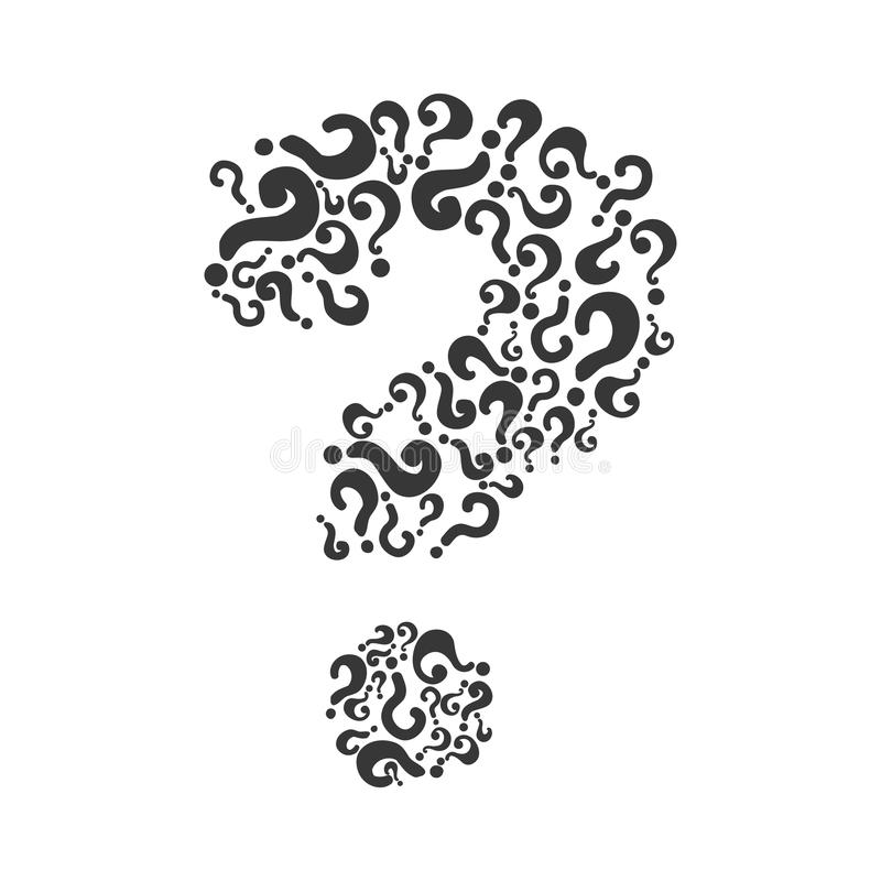 Icona del punto interrogativo Progettazione di dubbio Grafico di vettore illustrazione vettoriale