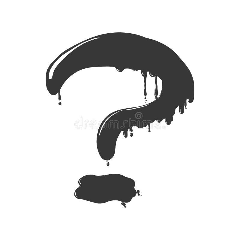 Icona del punto interrogativo Progettazione di dubbio Grafico di vettore royalty illustrazione gratis