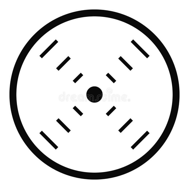 Icona del radar dell'interfaccia, stile semplice illustrazione di stock