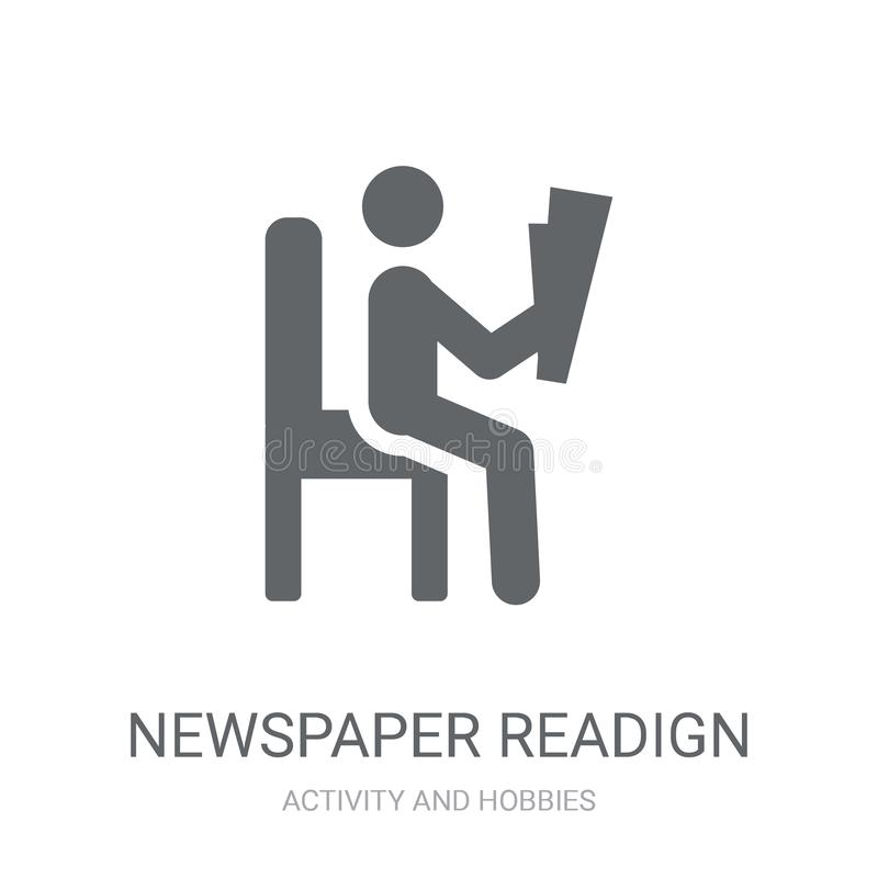 Icona del readign del giornale Concetto d'avanguardia di logo del readign del giornale sopra illustrazione vettoriale