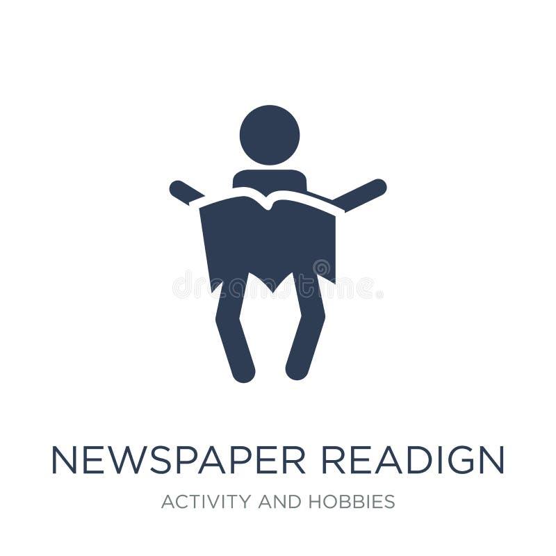 Icona del readign del giornale Ico piano d'avanguardia del readign del giornale di vettore royalty illustrazione gratis