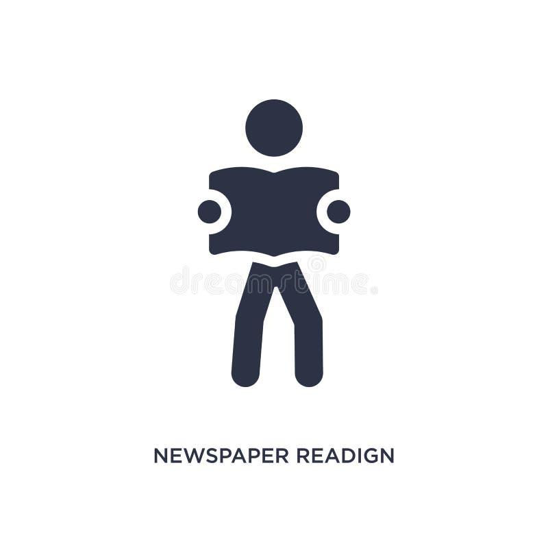 icona del readign del giornale su fondo bianco Illustrazione semplice dell'elemento da attività e dal concetto di hobby illustrazione di stock