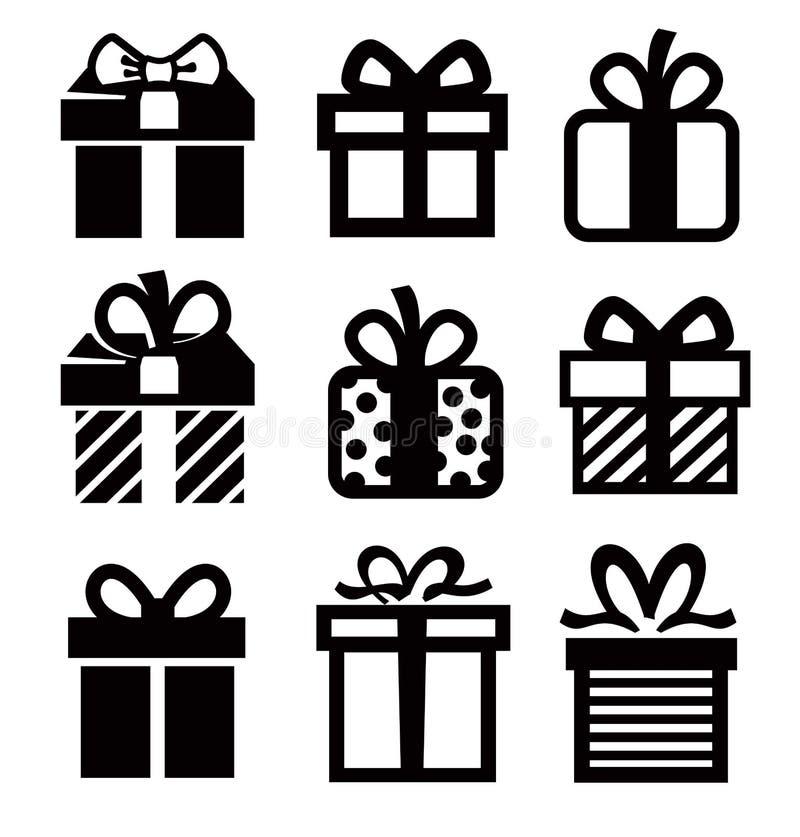 Icona del regalo illustrazione di stock