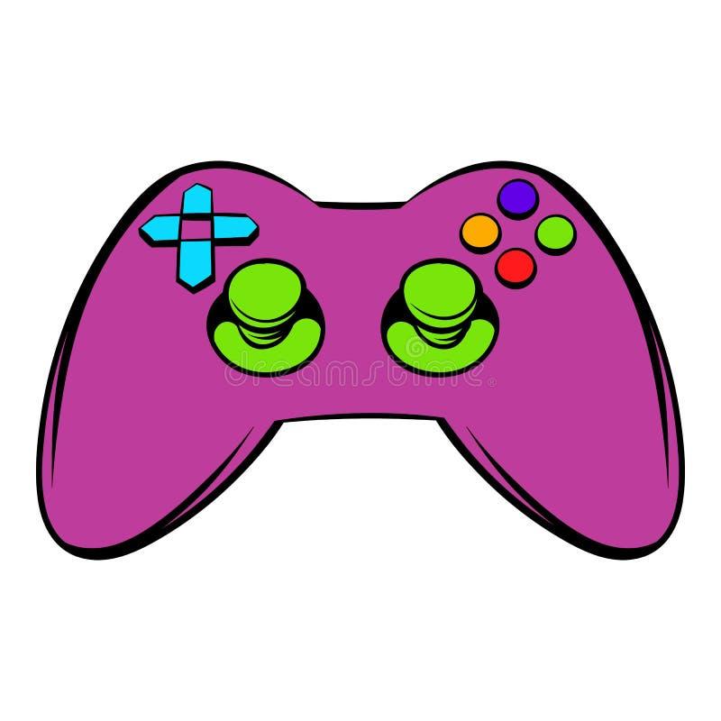 Icona del regolatore del video gioco, fumetto dell'icona illustrazione di stock