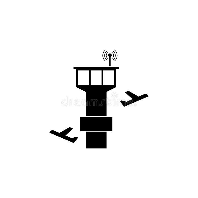 Icona del regolatore e dell'aereo della torre royalty illustrazione gratis