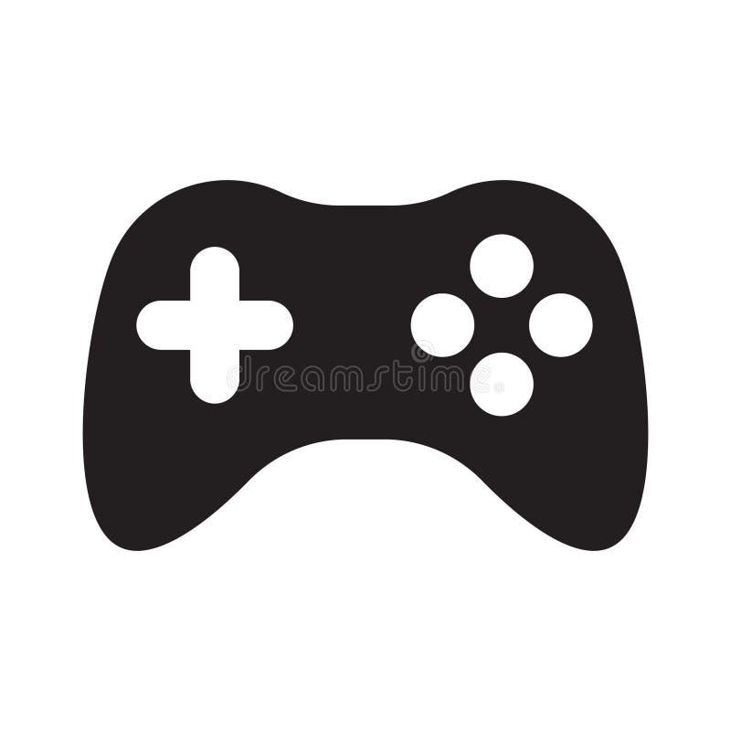 Icona del regolatore del gioco, icona della leva di comando illustrazione vettoriale