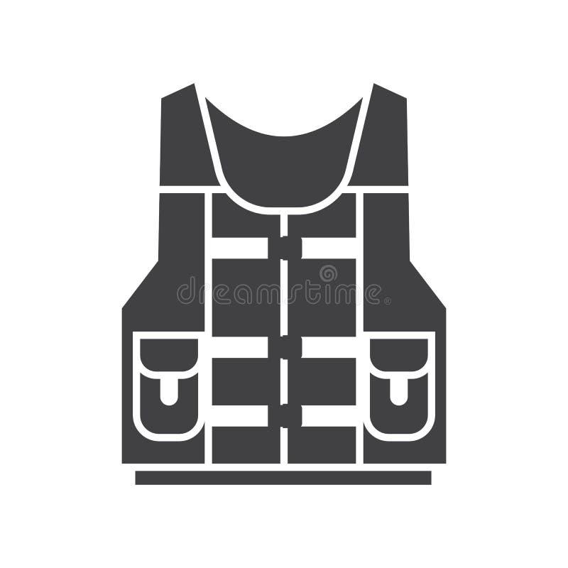 Icona del rivestimento della maglia di vita dell'acqua illustrazione di stock