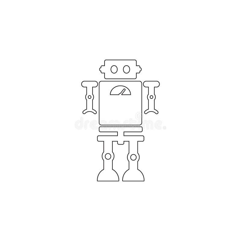 icona del robot del giocattolo Icona dell'elemento del giocattolo Icona premio di progettazione grafica di qualità Il bambino fir royalty illustrazione gratis