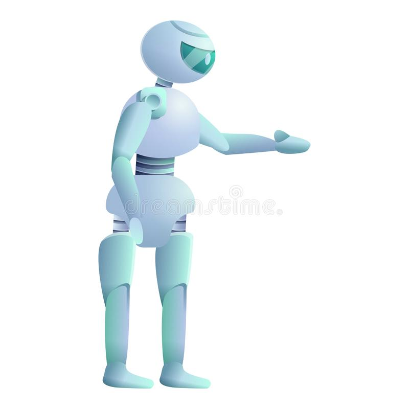 Icona del robot, stile del fumetto illustrazione di stock