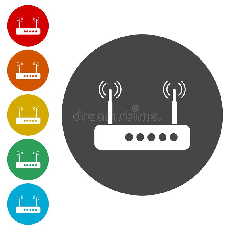 Icona del router illustrazione vettoriale