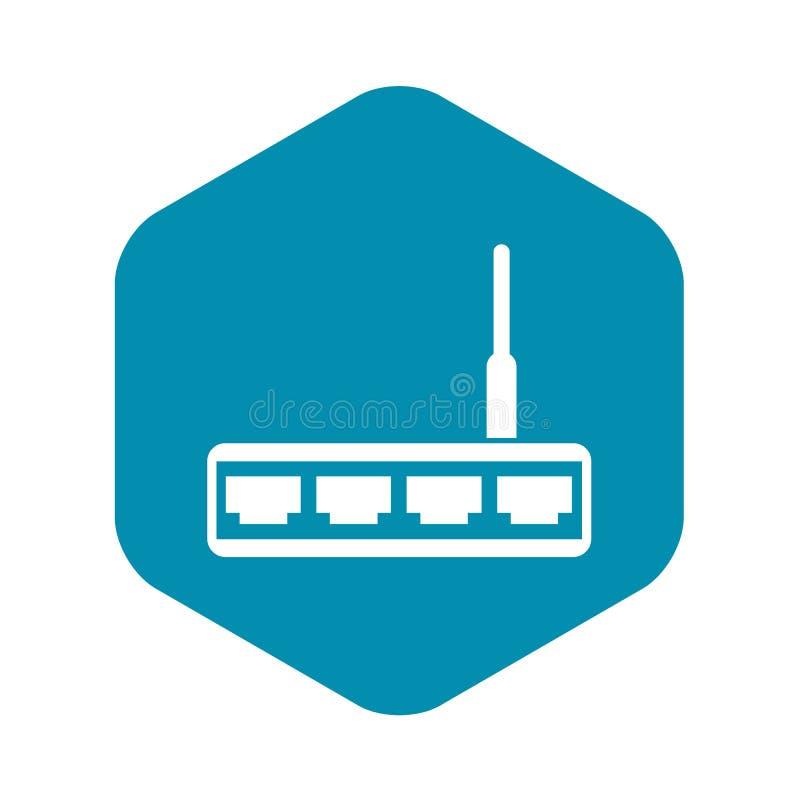 Icona del router, stile semplice illustrazione vettoriale