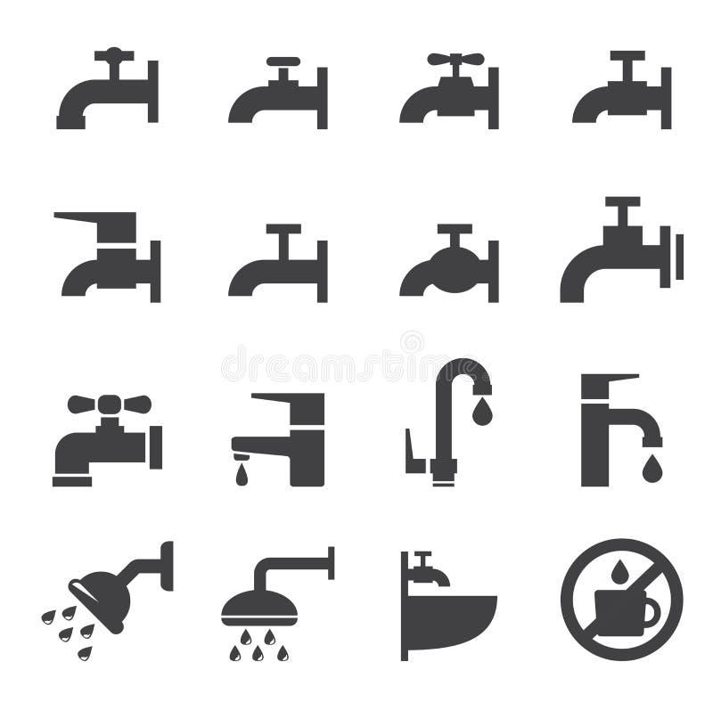Icona del rubinetto illustrazione vettoriale