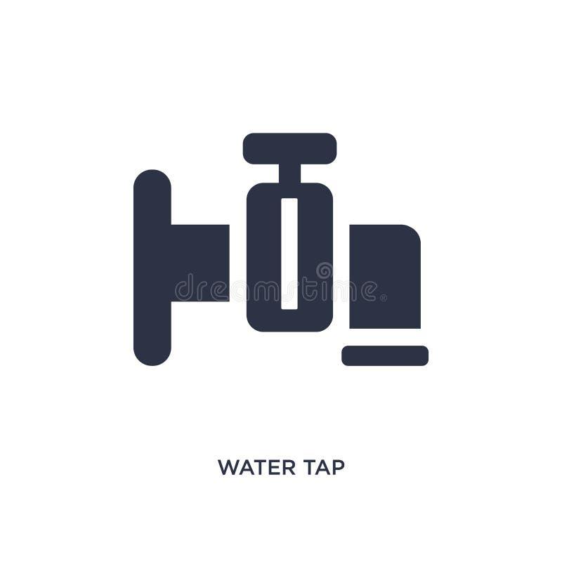 Icona del rubinetto di acqua su fondo bianco Illustrazione semplice dell'elemento dal concetto di ecologia royalty illustrazione gratis