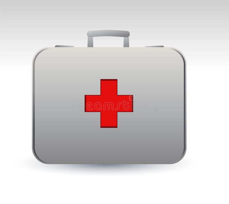 Icona del sacchetto del medico illustrazione di stock