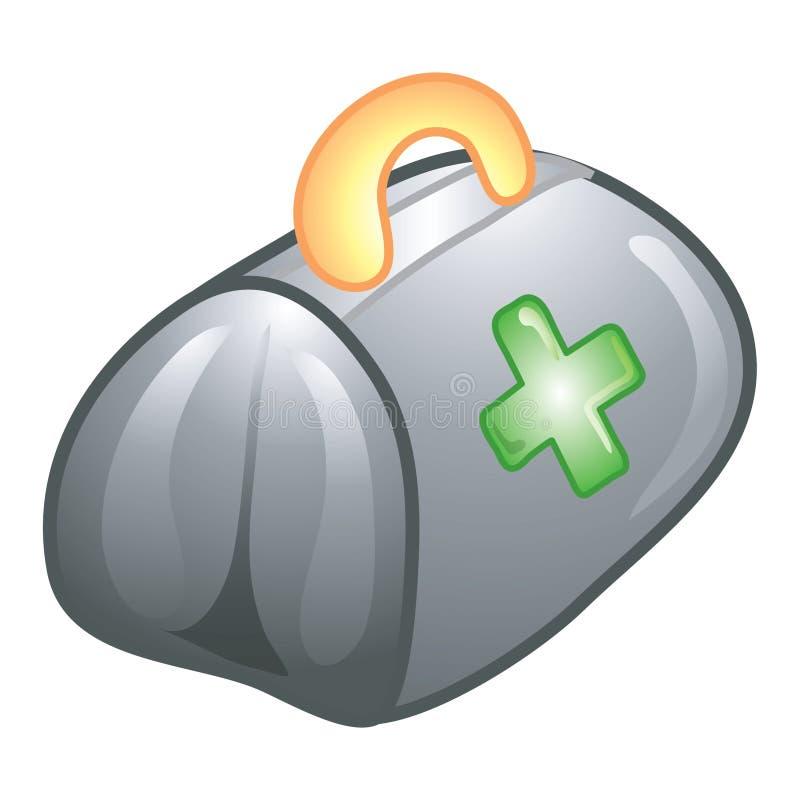 Icona del sacchetto del medico illustrazione vettoriale