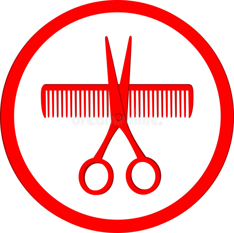 Icona del salone di capelli illustrazione di stock