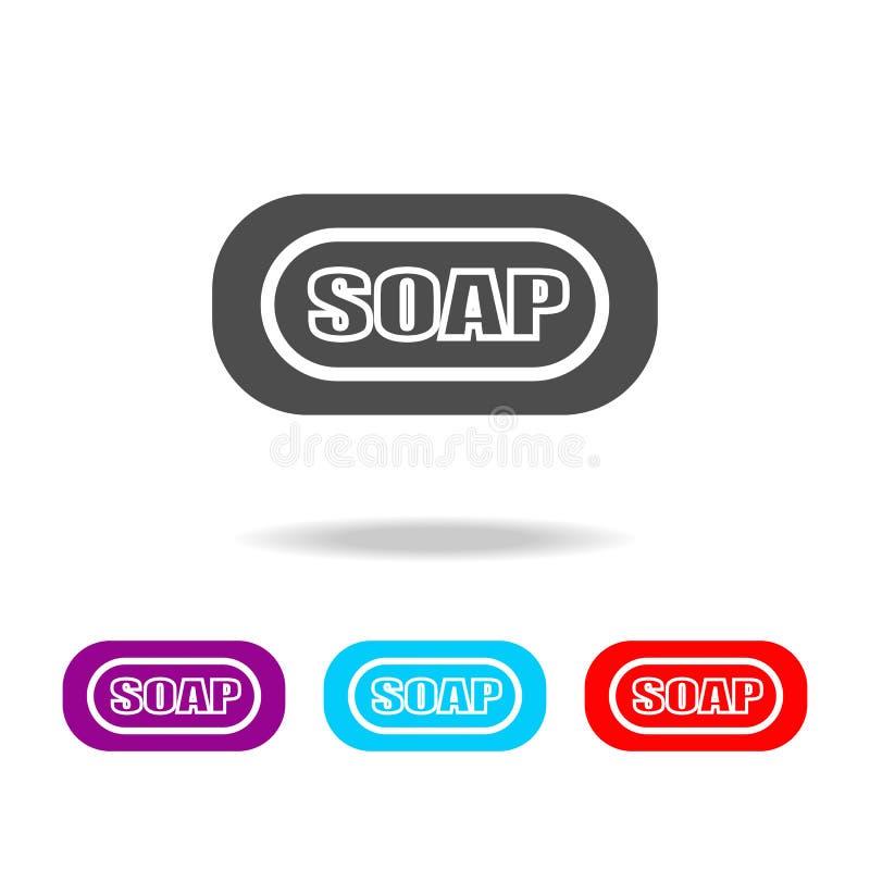Icona del SAPONE Elementi del bagno nelle multi icone colorate Icona premio di progettazione grafica di qualità Icona semplice pe royalty illustrazione gratis