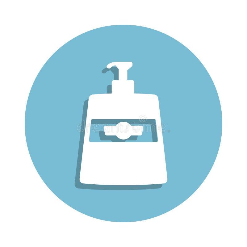 icona del sapone liquido nello stile del distintivo Uno dell'icona della raccolta del bagno può essere usato per UI, UX illustrazione vettoriale