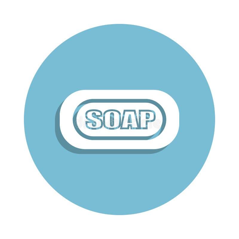 icona del sapone nello stile del distintivo Uno dell'icona della raccolta del bagno può essere usato per UI, UX royalty illustrazione gratis