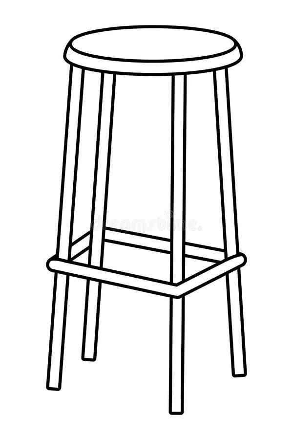 Icona del seggiolone in bianco e nero illustrazione di stock