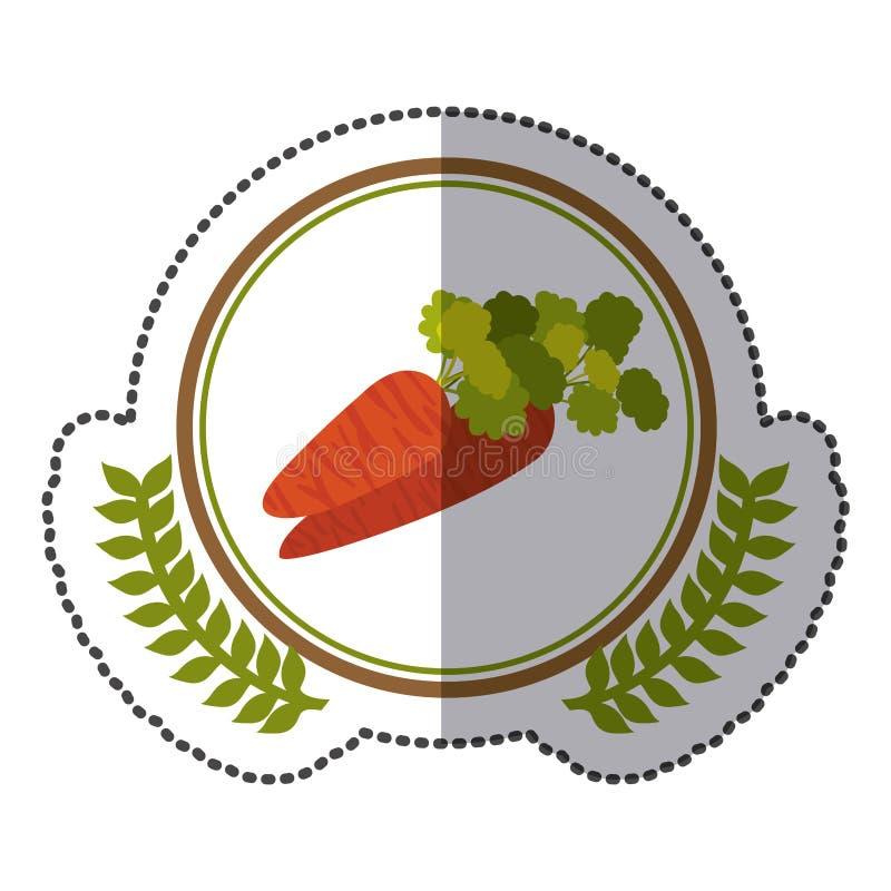 icona del segnale della carota di simbolo illustrazione vettoriale
