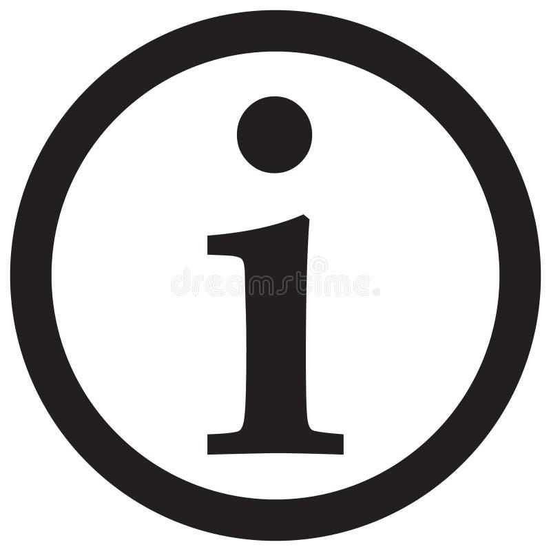 Icona del segnale di informazione, icona di informazioni illustrazione di stock