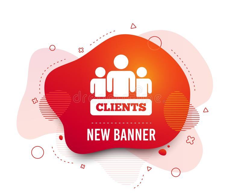 Icona del segno dei clienti Gruppo di persone il simbolo Vettore illustrazione di stock