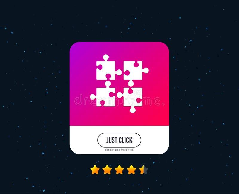 Icona del segno dei pezzi di puzzle Simbolo di strategia Vettore royalty illustrazione gratis