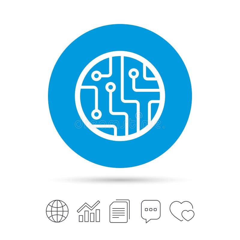 Icona del segno del circuito Simbolo di tecnologia illustrazione vettoriale