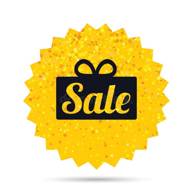 Icona del segno del regalo di vendita Simbolo di offerta speciale royalty illustrazione gratis