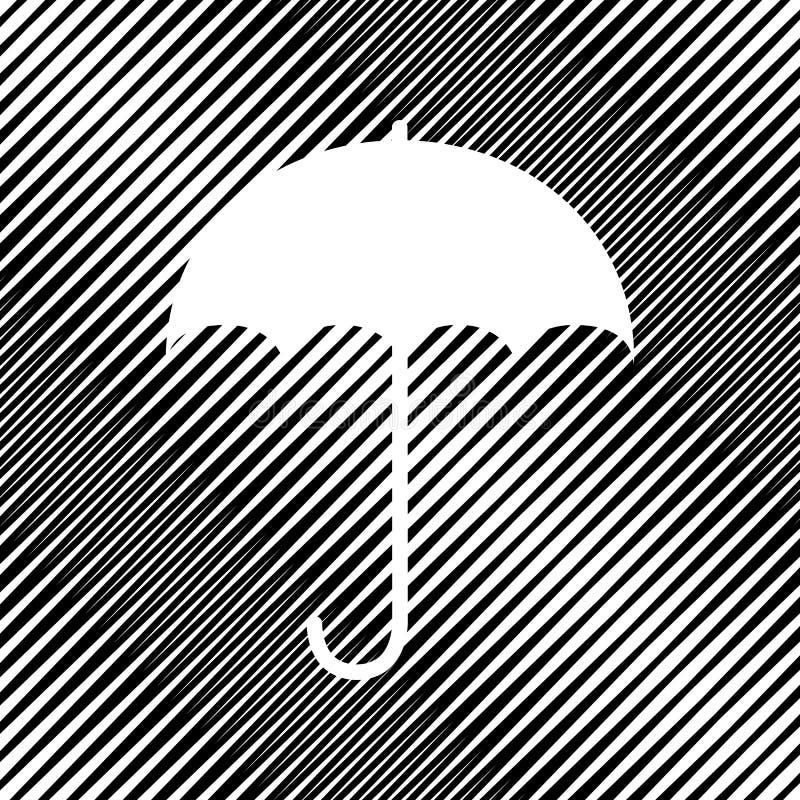 Icona del segno dell'ombrello Simbolo di protezione di pioggia Stile piano di progettazione V royalty illustrazione gratis