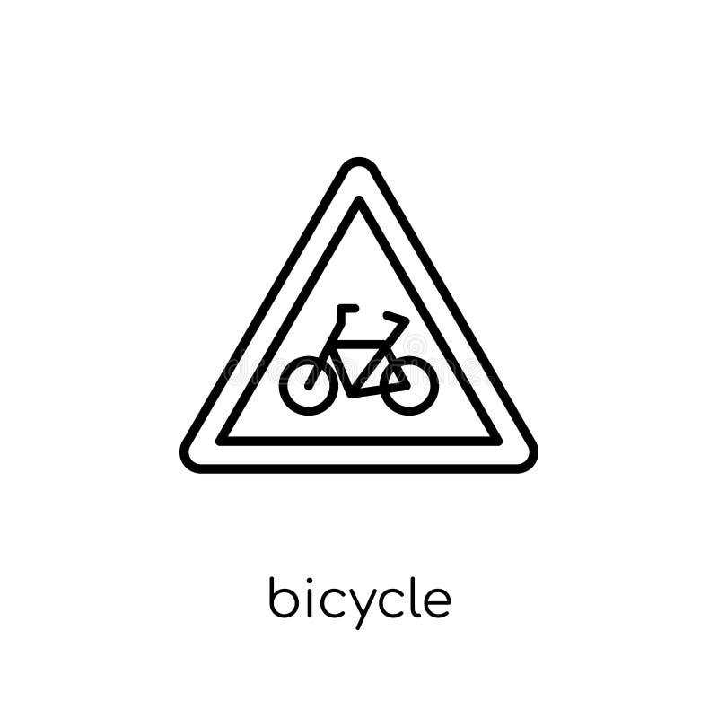Icona del segno della bicicletta Segno lineare piano moderno d'avanguardia della bicicletta di vettore illustrazione vettoriale