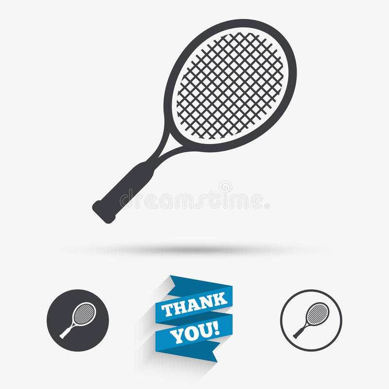 Icona del segno della racchetta di tennis Simbolo di sport illustrazione vettoriale