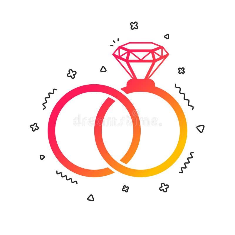 Icona del segno delle fedi nuziali Simbolo di impegno Vettore royalty illustrazione gratis