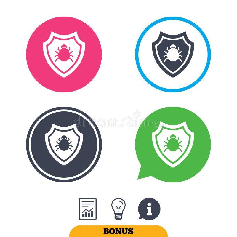 Icona del segno dello schermo Simbolo di protezione del virus royalty illustrazione gratis