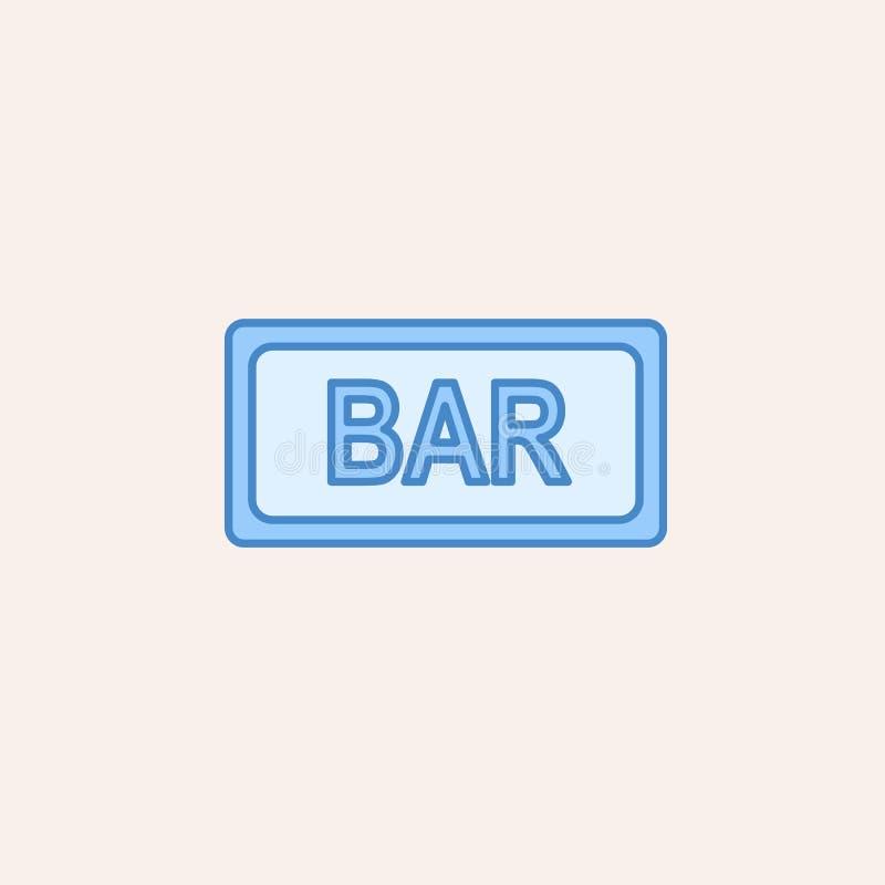Icona del segno di Antivari Elemento dell'icona del casinò per i apps mobili di web e di concetto L'icona del segno della barra d illustrazione di stock