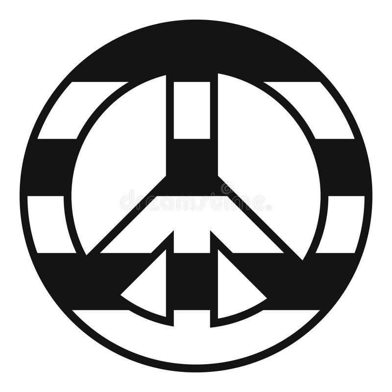 Icona del segno di pace di LGBT, stile semplice royalty illustrazione gratis