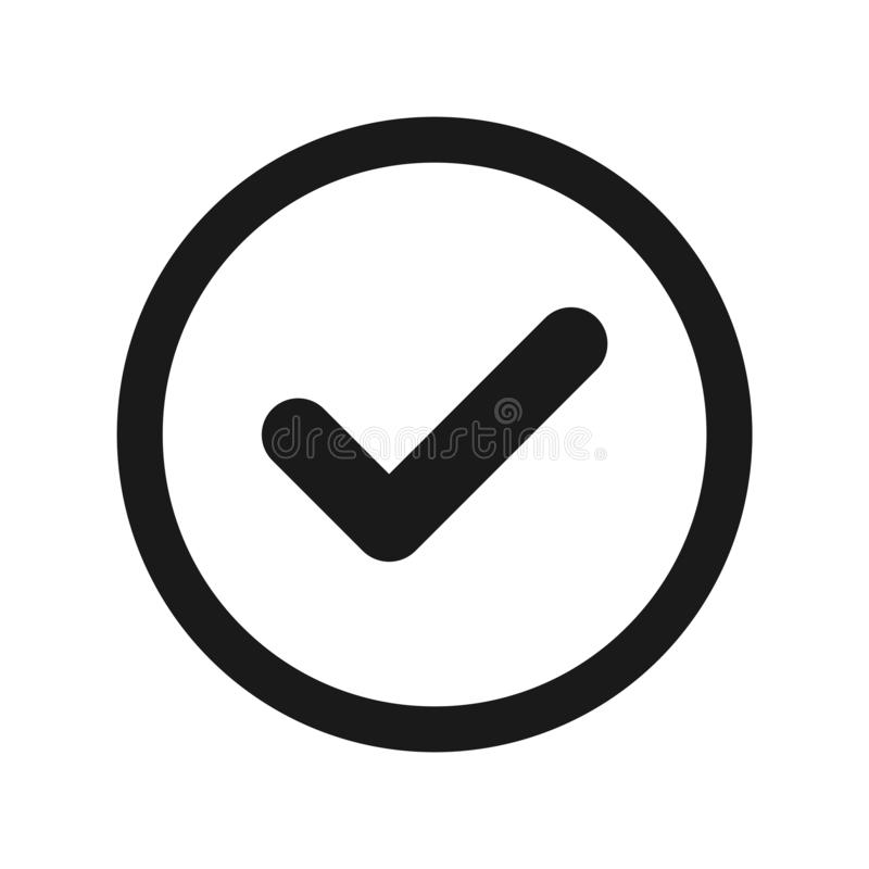 Icona del segno di spunta illustrazione di stock