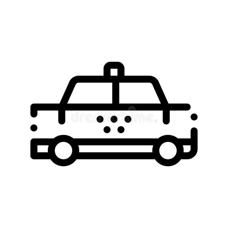 Icona del segno di vettore della carrozza dell'automobile del taxi di trasporto pubblico illustrazione di stock